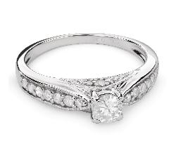 """Sužadėtuvių žiedas su Briliantais """"Grakštumas 96"""""""