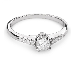 "Engagement ring with brilliant ""Grace 97"""