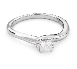 "Engagement ring with diamonds ""Princess 53"""
