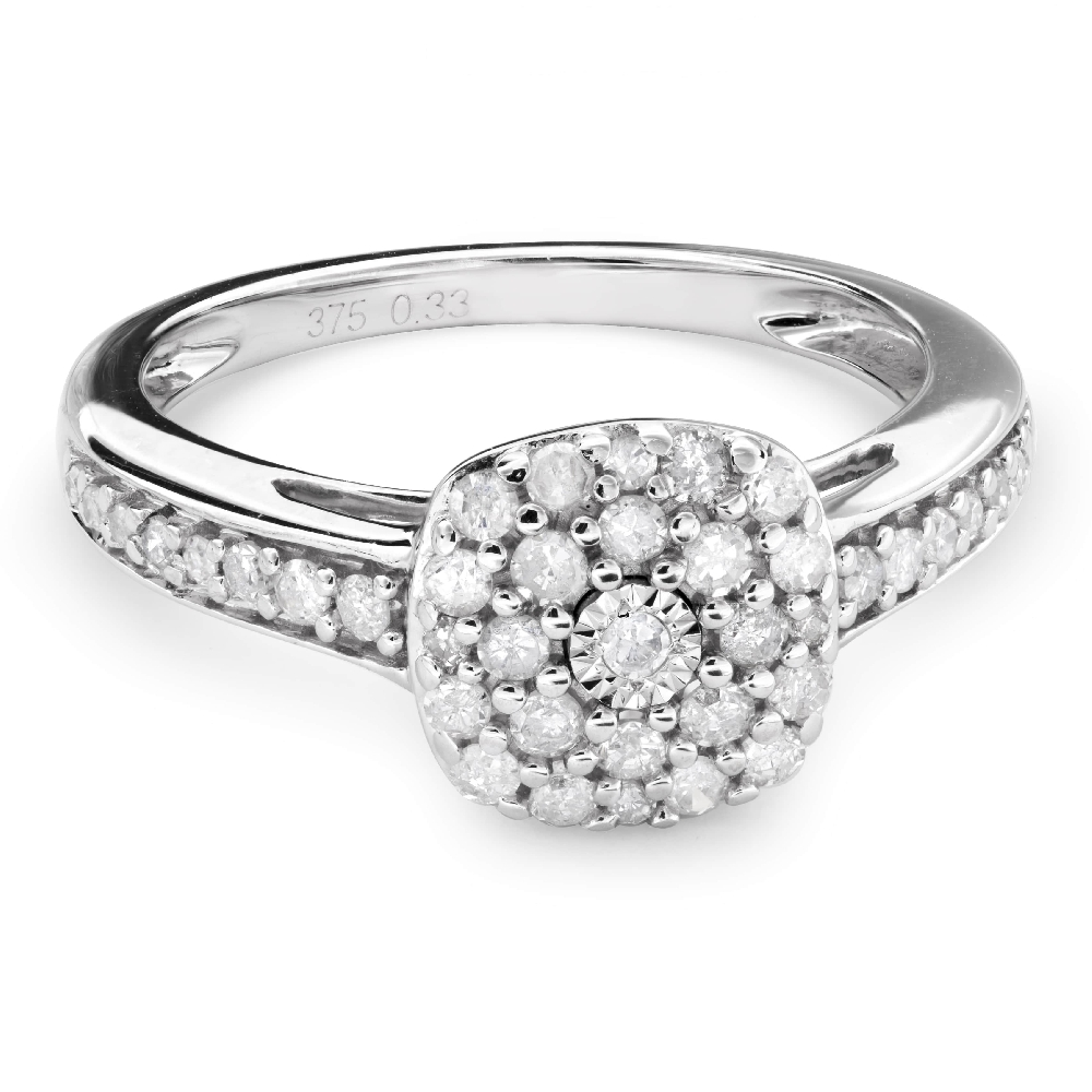 """Engagment ring with brilliants """"Bouquet of diamonds 38"""""""