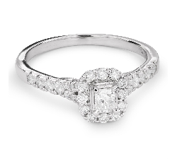 "Engagement ring with diamonds ""Unforgettable 14"""