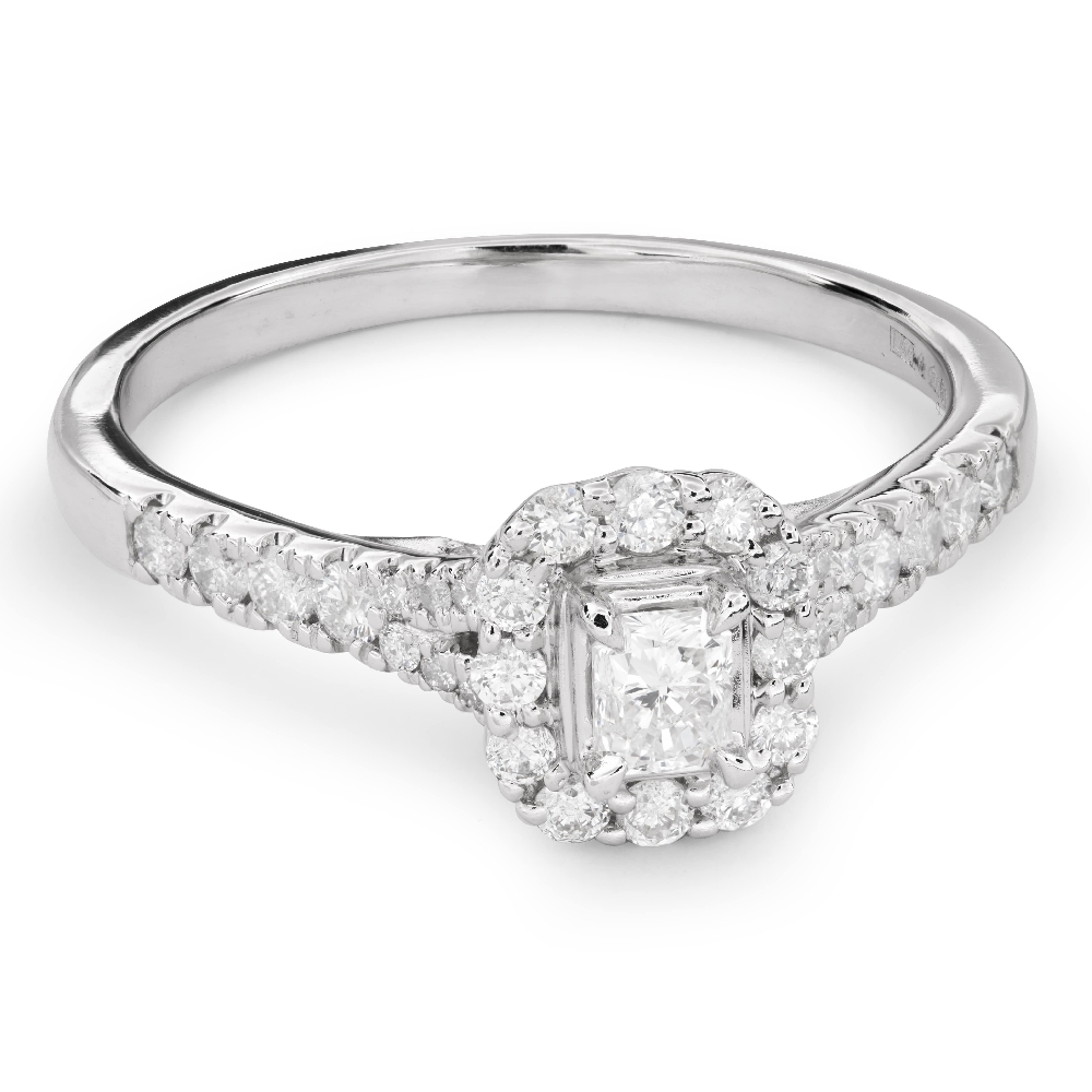 """Engagement ring with diamonds """"Unforgettable 14"""""""