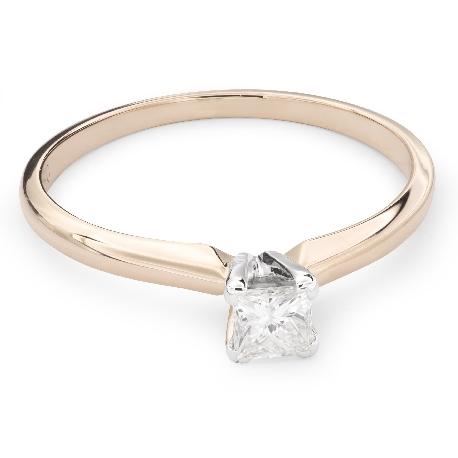 """Teemantidega kuldsõrmus """"Printsess 55"""""""