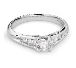 """Teemantidega kihlasõrmus """"Graatsilisus 105"""""""