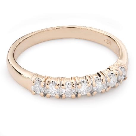 "Gold ring with brilliants ""Diamond strip 47"""