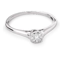 """Sužadėtuvių žiedas su Briliantu """"Dievaitė 90"""""""