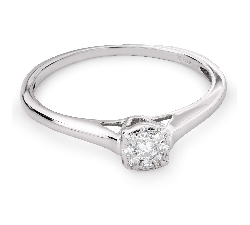 """Engagement ring with brilliant """"Goddess 90"""""""