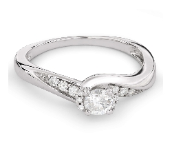 """Sužadėtuvių žiedas su Briliantais """"Viesulas 24"""""""