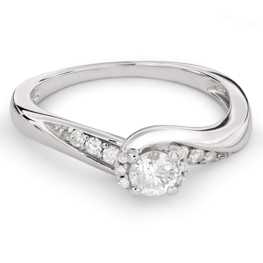 """Engagement ring with diamonds """"Hurricanes 24"""""""