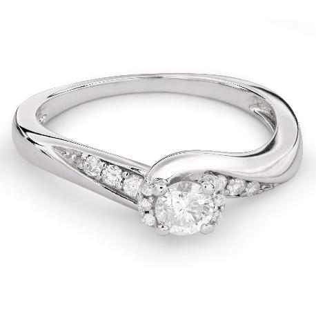 """Teemantidega kihlasõrmus """"Keeristuul 24"""""""