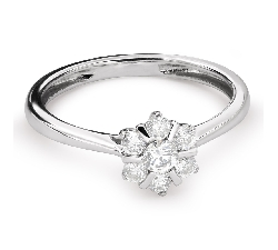 "Engagment ring with brilliants ""Diamond flower 34"""