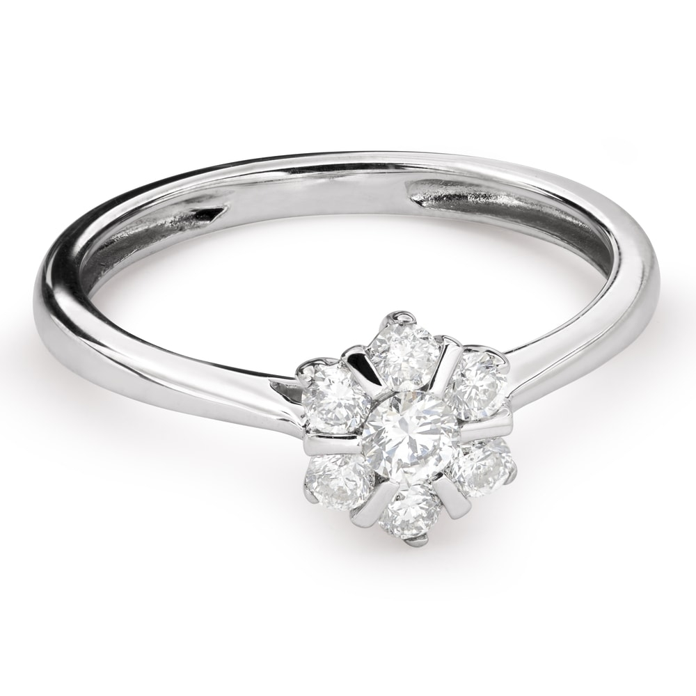 """Engagment ring with brilliants """"Diamond flower 34"""""""