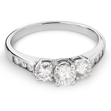 """Teemantidega kuldsõrmus """"Triloogia 24"""""""
