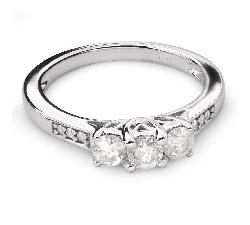 """Auksinis žiedas su Briliantais """"Trilogija 26"""""""