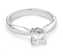 "Engagement ring with diamond ""Princess 62"""