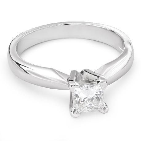 "Engagement ring with diamond ""Princess 62"""