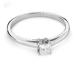 "Engagement ring with diamond ""Princess 72"""