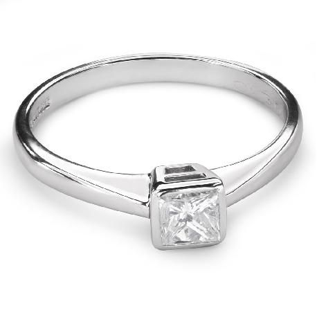 "Engagement ring with diamond ""Princess 65"""