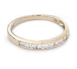 """Auksinis žiedas su Briliantais """"Deimantinė Juostelė 48"""""""