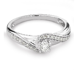 "Engagement ring with diamonds ""Life 30"""