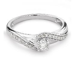 """Auksinis žiedas su Deimantais """"Gyvybė 30"""""""