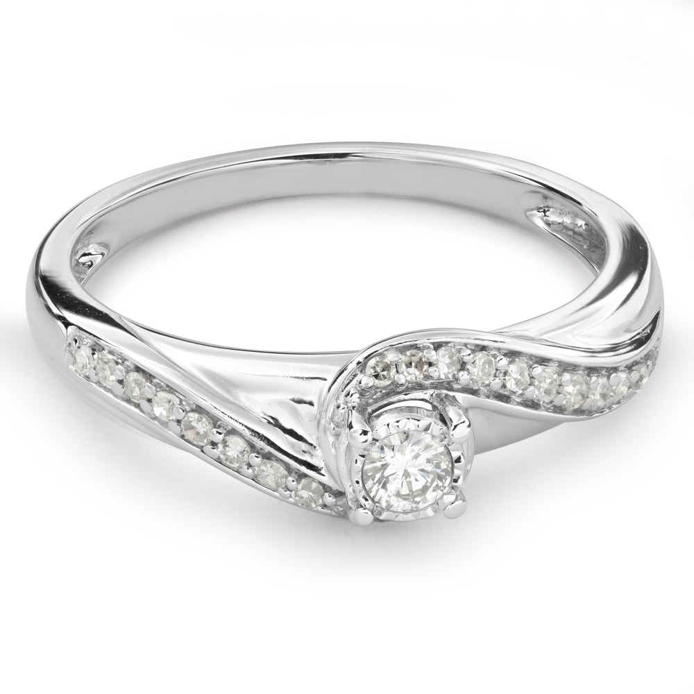 """Engagement ring with diamonds """"Life 30"""""""