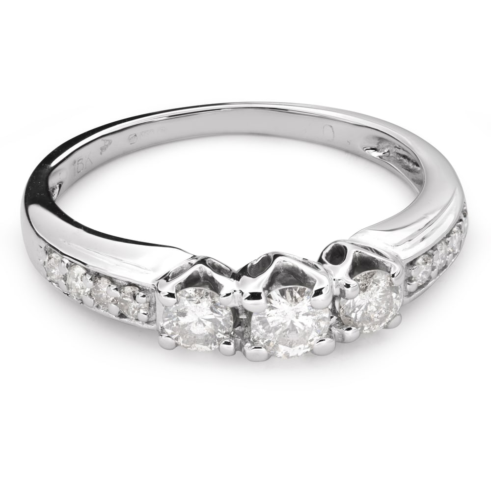 """Engagment ring with brilliants """"Trilogy 27"""""""