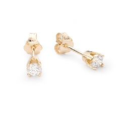 "Gold earrings with brilliants ""Classic 38"""