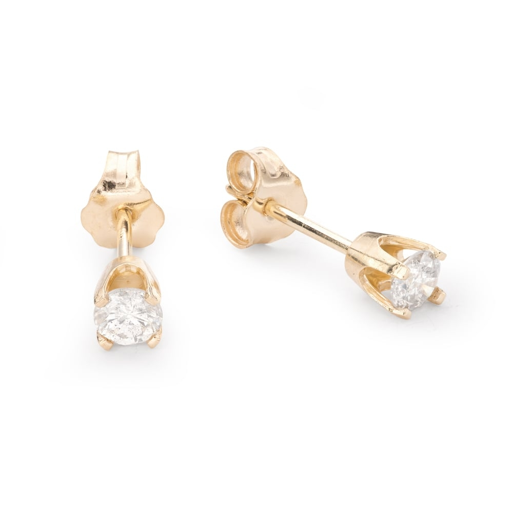 """Gold earrings with brilliants """"Classic 38"""""""