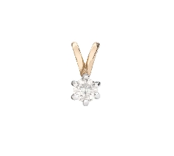 "Gold pendant with brilliant ""Classic 42"""