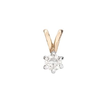"Gold pendant with brilliant ""Classic 47"""