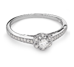 "Engagement ring with diamonds ""Bouquet of diamonds 47"""
