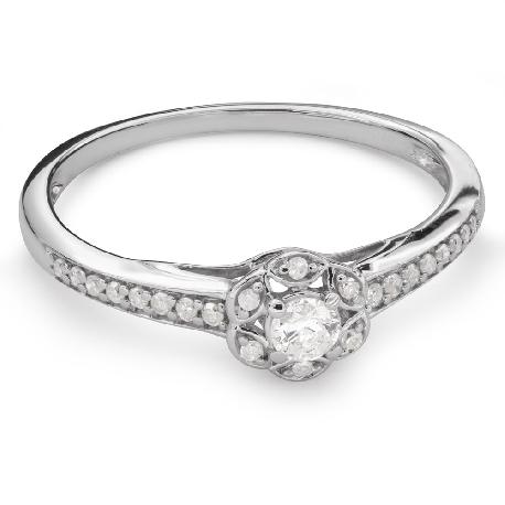 """Teemantidega kihlasõrmus """"Briljantide kimp 47"""""""