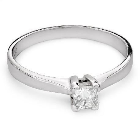 "Engagement ring with diamond ""Princess 68"""
