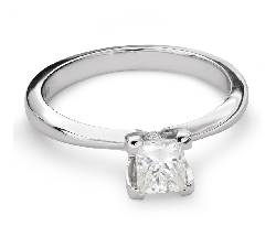 "Engagement ring with diamond ""Princess 70"""