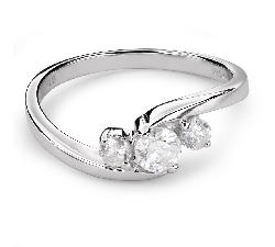 "Engagment ring with brilliants ""Trilogy 29"""