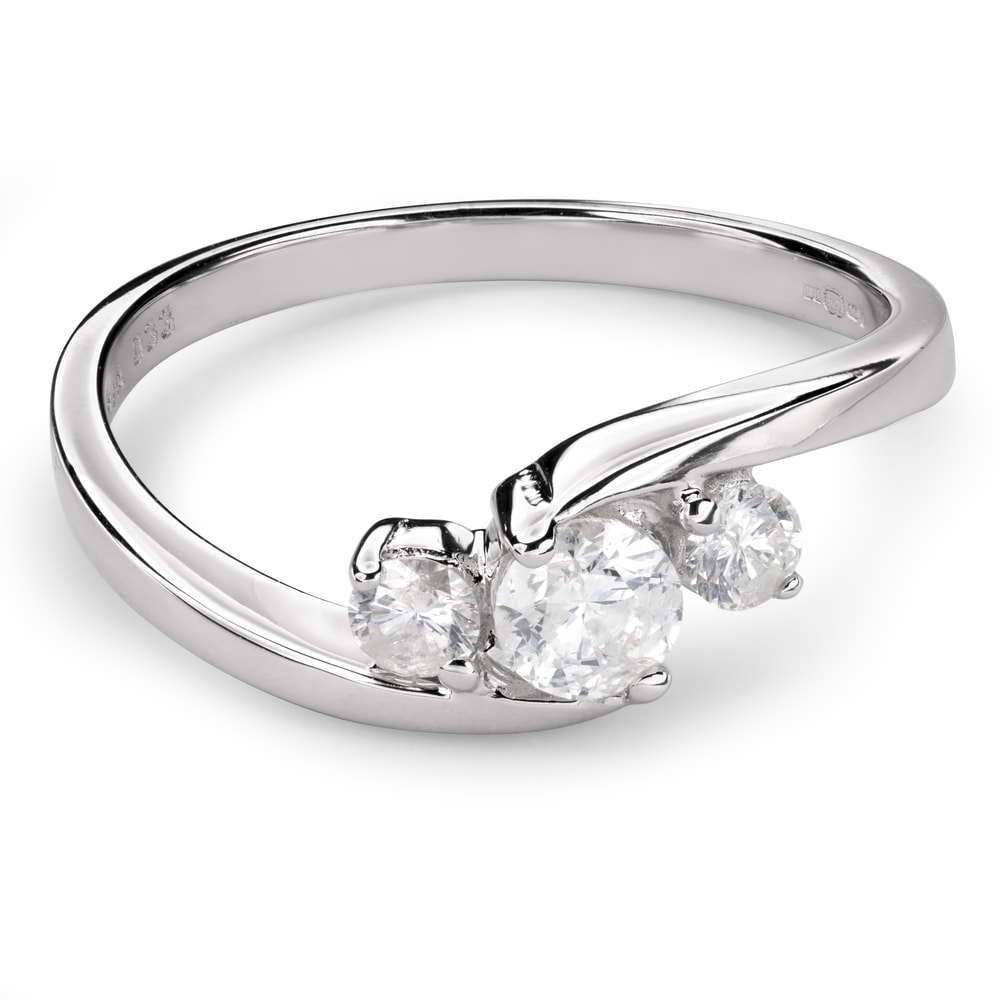 """Engagment ring with brilliants """"Trilogy 29"""""""