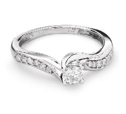 """Sužadėtuvių žiedas su Briliantais """"Viesulas 27"""""""
