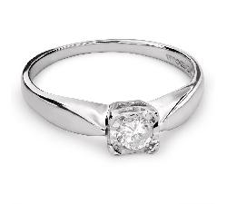 """Sužadėtuvių žiedas su Briliantu """"Mylimasis 102"""""""