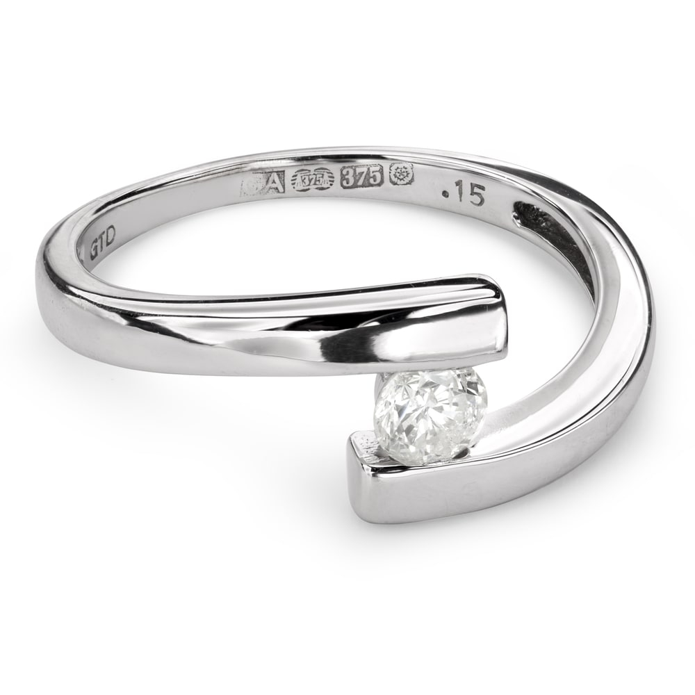 "Engagement ring with brilliant ""Intertwined destinies 41"""