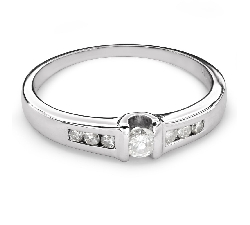 "Engagement ring with diamonds ""Between the rocks 22"""
