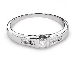 """Sužadėtuvių žiedas su Deimantais """"Tarp Uolų 22"""""""