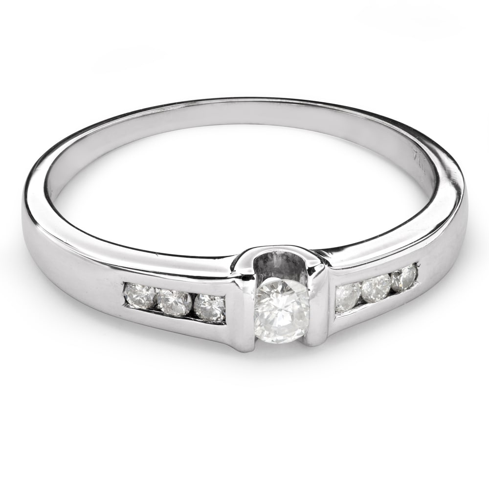 """Engagement ring with diamonds """"Between the rocks 22"""""""