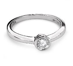 """Auksinis žiedas su Briliantu """"Tarp Uolų 23"""""""