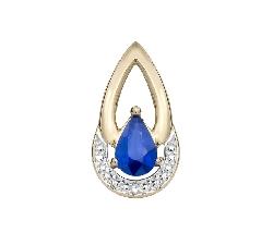 "Gold pendant with gemstones ""Sapphire 30"""