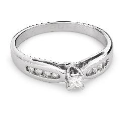 """Teemantidega kihlasõrmus """"Graatsilisus 112"""""""