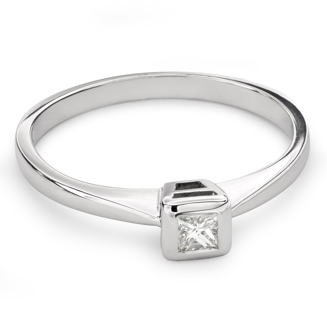 "Engagement ring with diamond ""Princess 73"""
