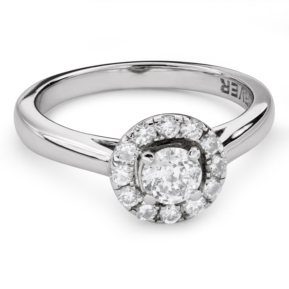 "Engagment ring with brilliants ""Diamond flower 41"""