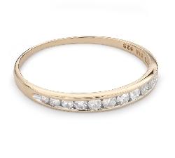 """Briljantidega kuldsõrmus """"Teemantidega lint 49"""""""
