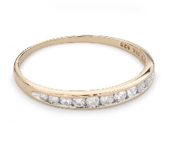 "Gold ring with brilliants ""Diamond strip 49"""